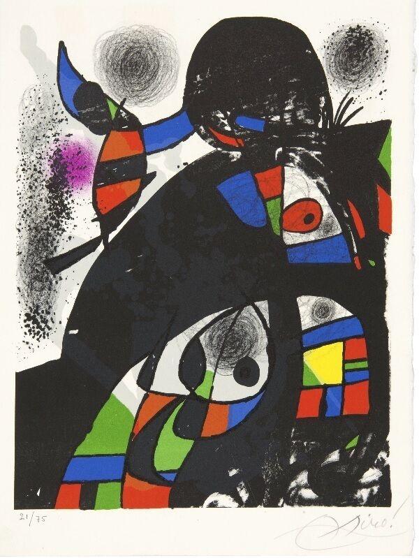 Joan Miró, 'Hommage à San Lazzaro', 1975, Print, Original lithograph on wove paper, Samhart Gallery