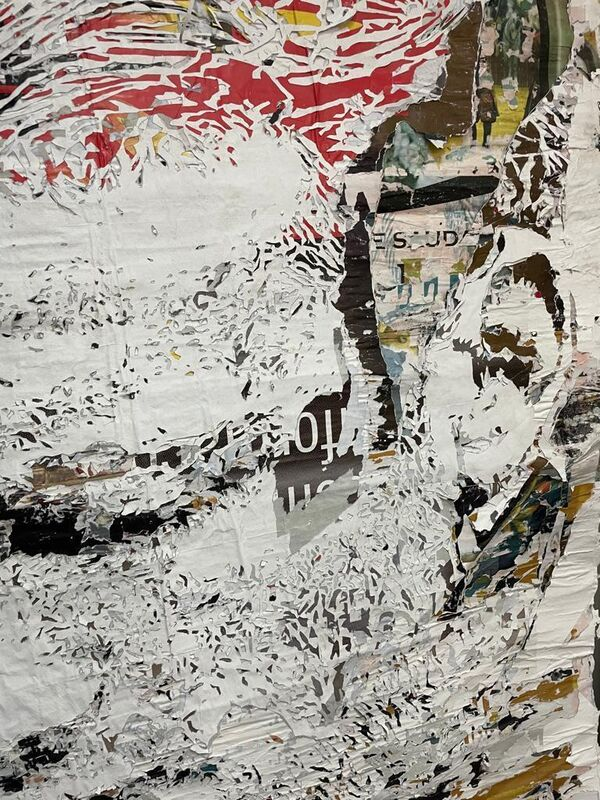 Vhils, 'Beam Series #8', 2021, Drawing, Collage or other Work on Paper, Hand-carved advertising posters, MAGMA gallery