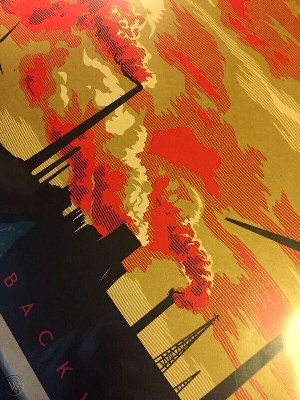 Shepard Fairey, 'The Last Mountain  (Forward or Backward ?)', 2011, Print, Screenprint on Cream speckle tone recycled Art paper, AYNAC Gallery