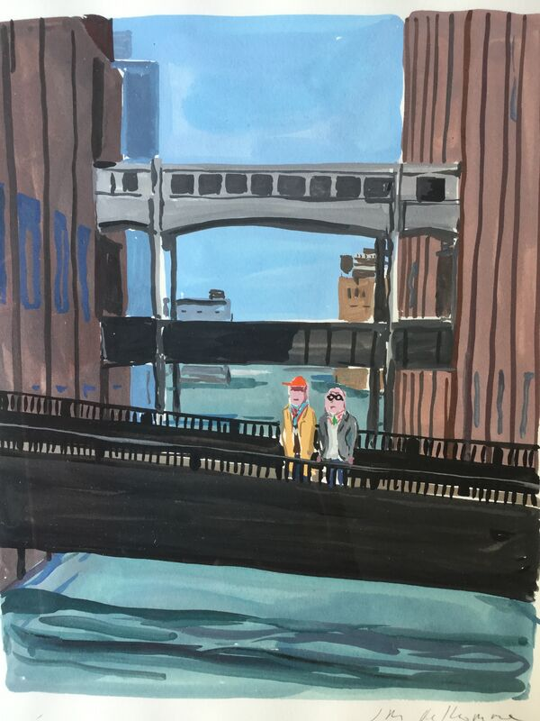 Jean-Philippe Delhomme, 'High Line, New York', 2011, Drawing, Collage or other Work on Paper, Watercolor on paper, Sigrid Freundorfer Fine Art