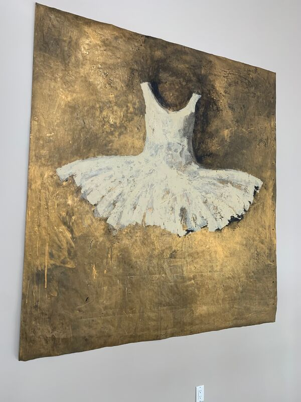 Ewa Bathelier, 'Summer Dress', 2017, Painting, Acrylic on Fabric, Galleria Ca' d'Oro