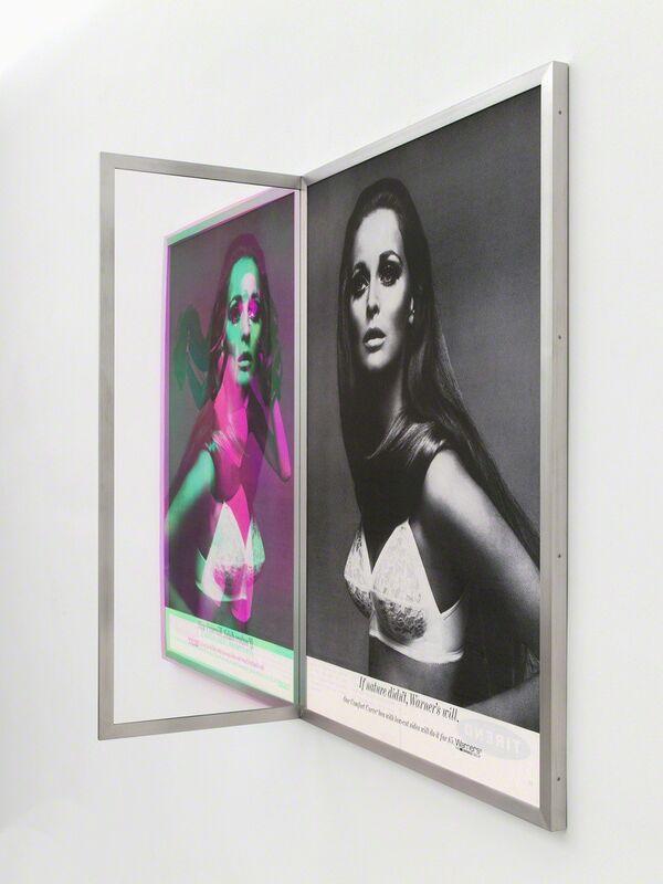 Jonathan Monk, 'Figurative Sandwich', 2014, Sculpture, Black and white prints, radiant Plexiglas, brushed stainless steel frame, Casey Kaplan