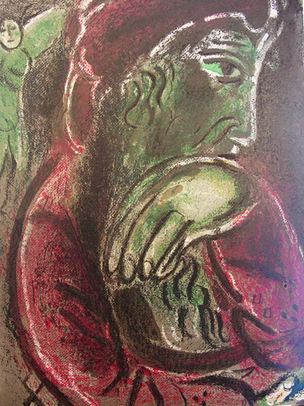 Marc Chagall, 'Job in Despair', 1960, Print, Lithograph, Georgetown Frame Shoppe