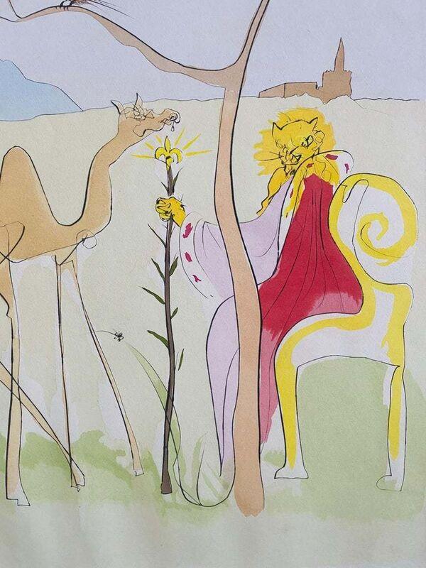 Salvador Dalí, 'La Cour du Lion', 1974, Print, Color Print, Drypoint, Etching, Lions Gallery