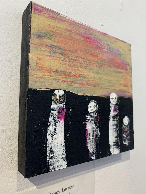 Nancy Larrew, 'Little Ghosts 13', 2021, Painting, Acrylic on wood, bG Gallery