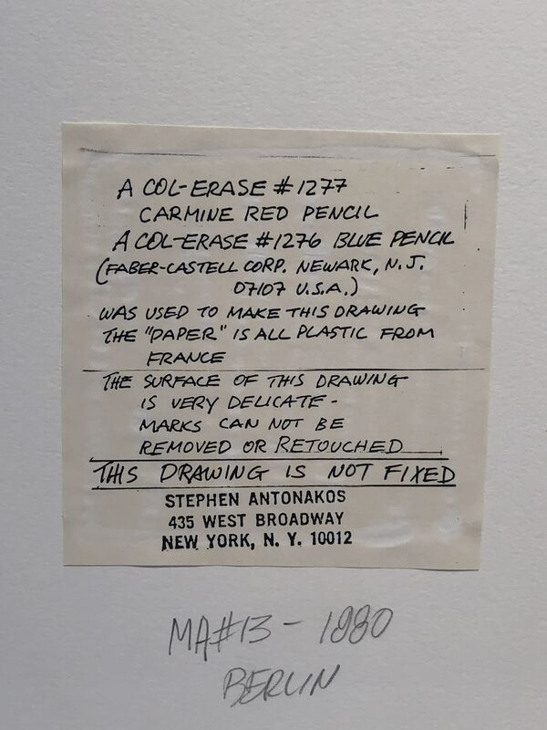 Stephen Antonakos, 'MA #13 Berlin', 1980, Drawing, Collage or other Work on Paper, Past on vellum paper, Anders Wahlstedt Fine Art