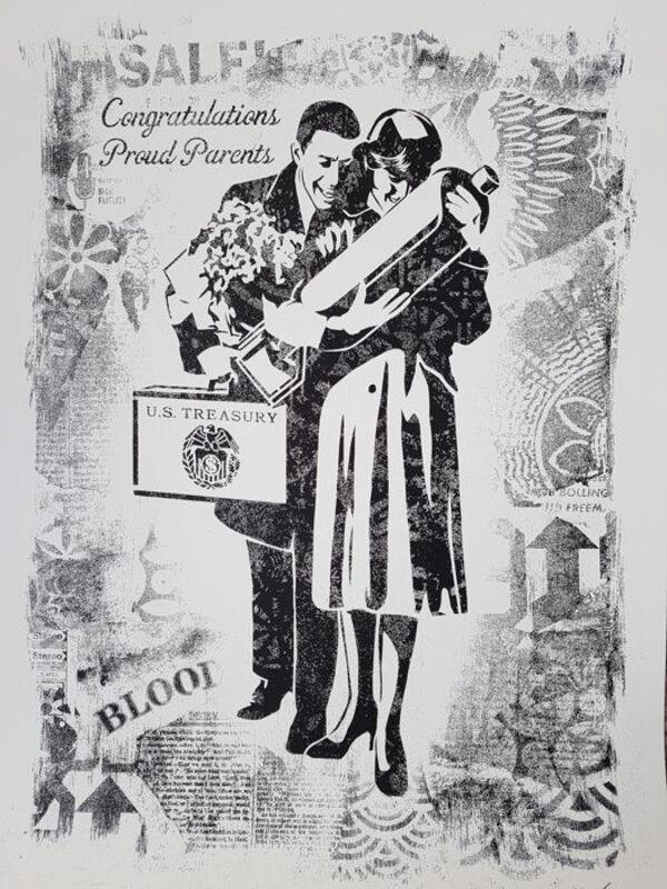 Shepard Fairey, 'Proud Parents(Stencil Series )', 2017, Print, Screen Print, Dope! Gallery