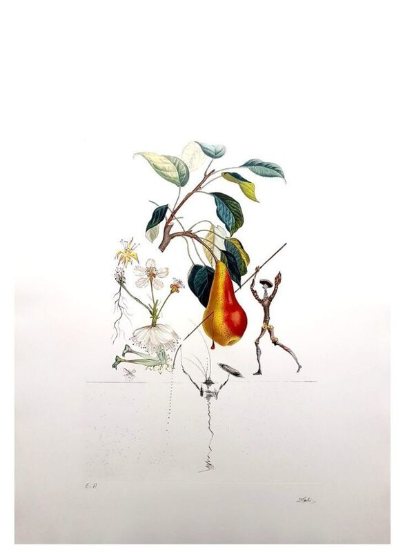 Salvador Dalí, 'Flordali - Poire Don Quixote', 1969, Print, Original etching on Rives paper, Samhart Gallery