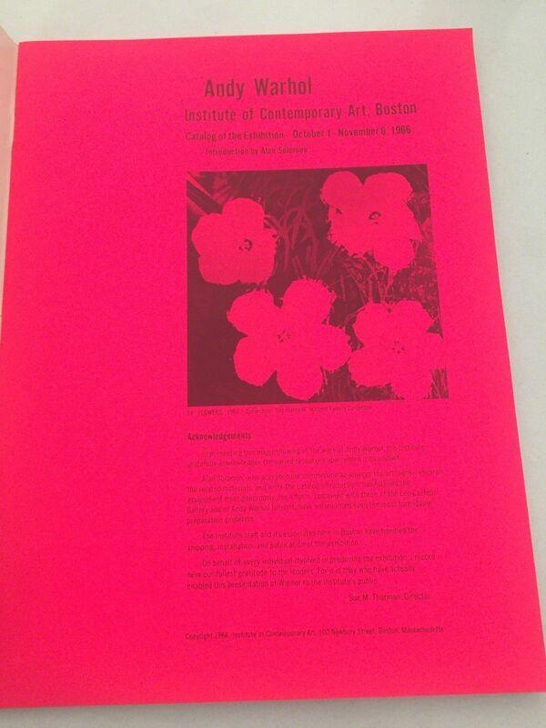 "Andy Warhol, '""Andy Warhol- Institute of Contemporary Art Boston"", Exhibition Catalogue', 1966, Ephemera or Merchandise, Lithograph on paper, VINCE fine arts/ephemera"