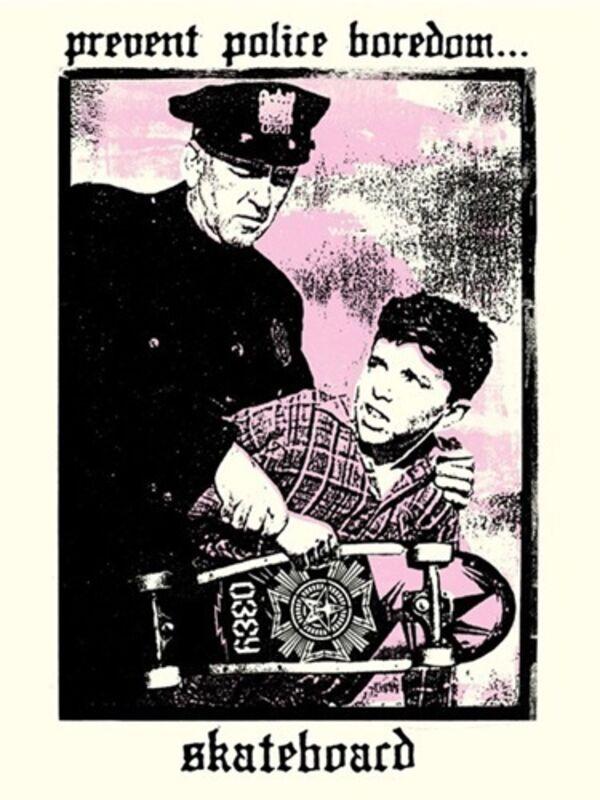 Shepard Fairey, 'Police Boredom', 2018, Print, Speckle Tone Paper, New Union Gallery