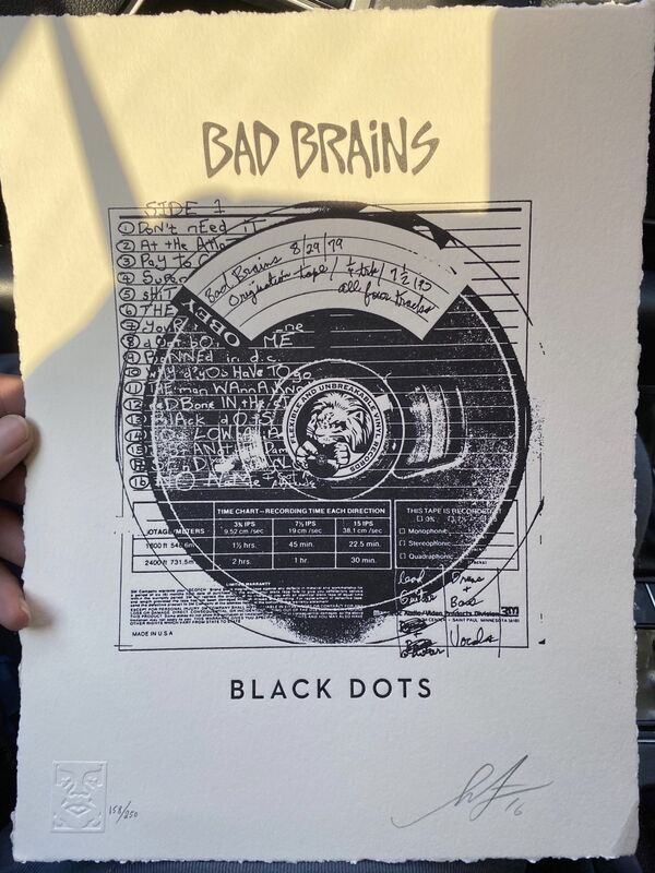 Shepard Fairey, 'Bad Brains Black Dots', 2016, Print, Letterpress print, Artsy x Tate Ward