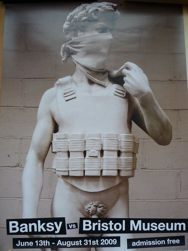 "Banksy, 'BANKSY VS BRISTOL MUSEUM ""DAVID"" POSTER ', 2009, Ephemera or Merchandise, Offset lithograph, Arts Limited"