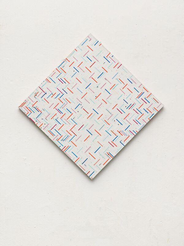 Gregor Hildebrandt, 'Trikoloren Raute', 2016, Mixed Media, Mixed Media on Canvas, Sommer Contemporary Art