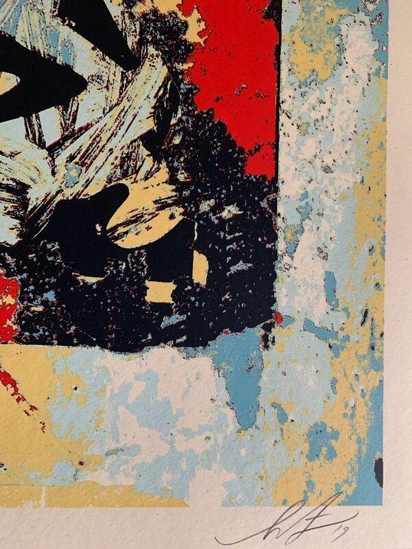 Shepard Fairey, 'Shepard Fairey Print Enhanced Disintegration (Red) Obey Giant 2019', 2019, Print, Screenprint on cream Speckle Tone Paper, New Union Gallery