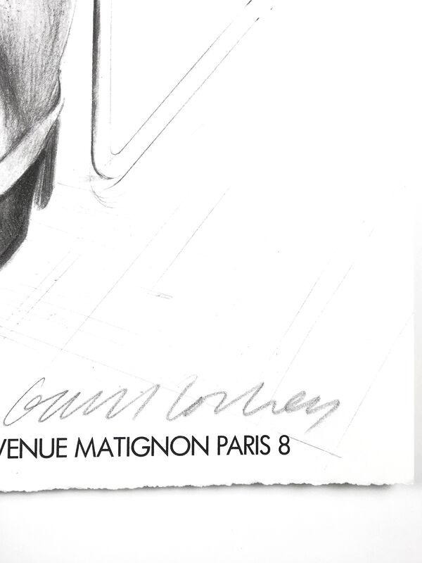 David Hockney, 'Artcurial, Paris 1979 (Gregory Evans, 1976) SIGNED ', 1979, Print, Offset lithograph, Petersburg Press