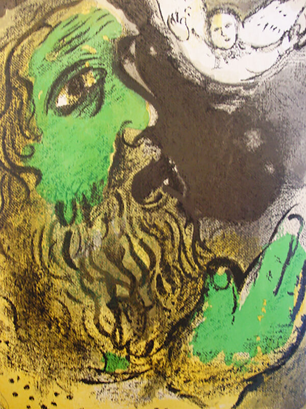 Marc Chagall, 'Job Praying', 1960, Print, Lithograph, Georgetown Frame Shoppe