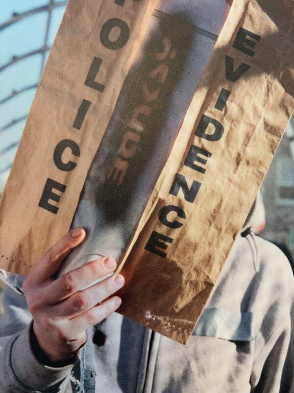 Banksy, 'POLICE EVIDENCE POSTCARD HAND SIGNED BY STEVE LAZARIDES', 2018, Ephemera or Merchandise, Post card by Steve Lazarides, Arts Limited