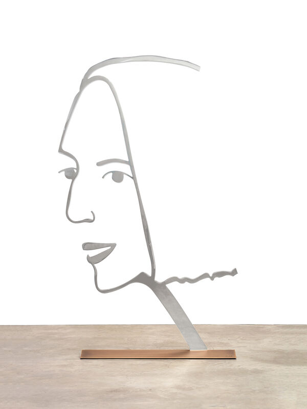 Alex Katz, 'Ada 2 (Outline)', 2018, Sculpture, Mirror polished stainless steel with anodized black edge on bronze base with patina, Haw Contemporary