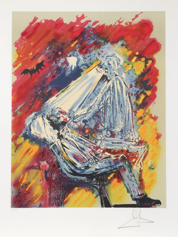Salvador Dalí, 'La lumiere de la guerison (The Dentist)', 1980, Print, Lithograph on Arches, signed and numbered in pencil, RoGallery