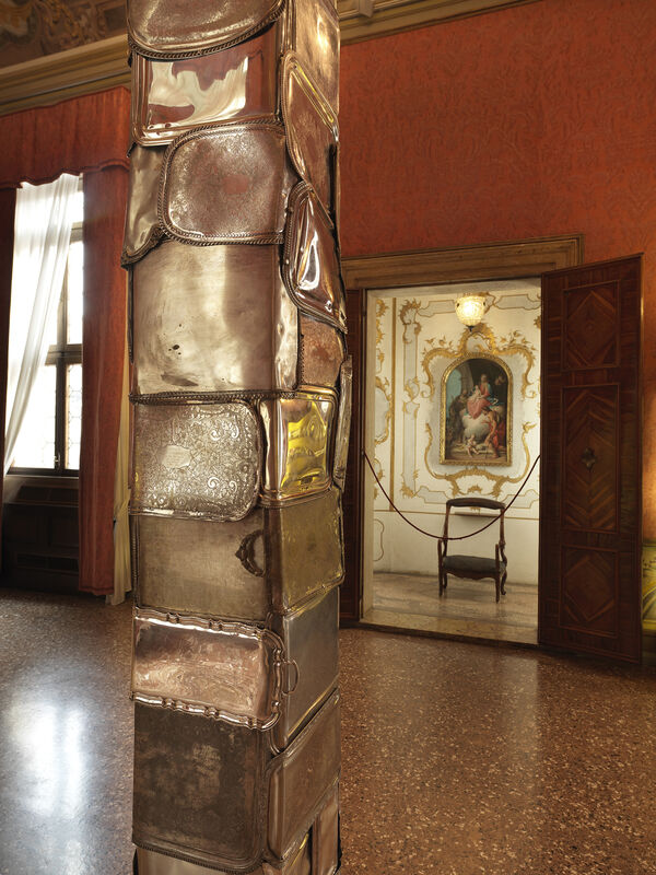 Flavio Favelli, 'Silver Plated', 2019, Sculpture, Assemblage of trays, Francesca Minini