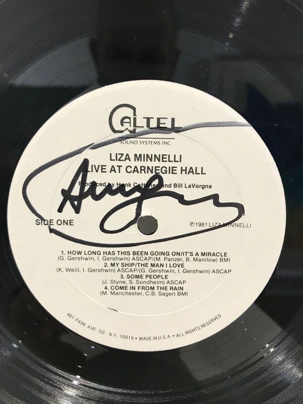 Andy Warhol, 'Liza Minelli Live At Carnegie Hall', 1981, Mixed Media, Original double vinyl record by Liza Minelli, cover designed by Andy Warhol, Galerie Kellermann