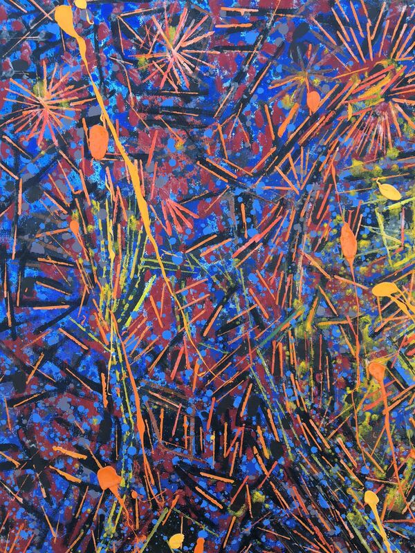 Lee Mullican, 'Shooting Chant', 1985, Painting, Oil on canvas, 203 Fine Art