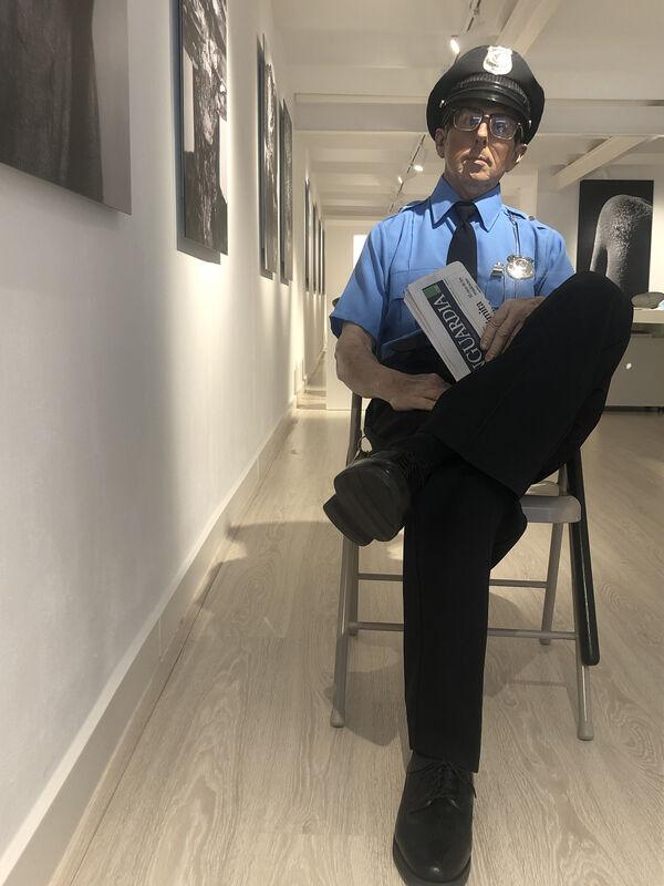 Marc Sijan, 'Seated Guard', ca. 2016, Sculpture, Polyester resin, Oil paint, Espacio BCN