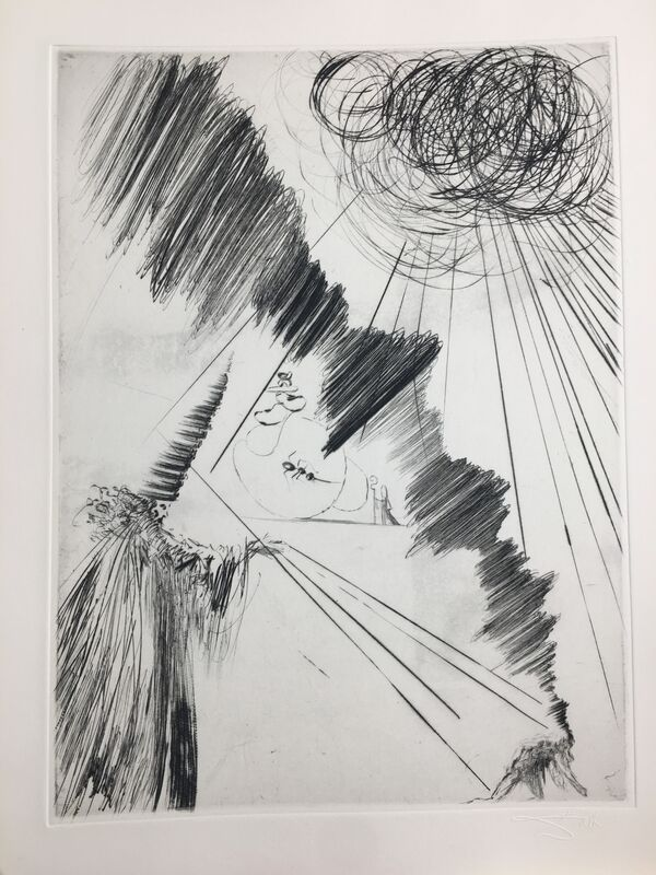 Salvador Dalí, 'Woman with Clown', 1969, Drawing, Collage or other Work on Paper, Original engraving, Dali Paris