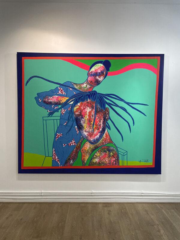 Ajarb Bernard Ategwa, 'Yaounde 31 December ', 2021 , Painting, Acrylic on canvas, Afikaris