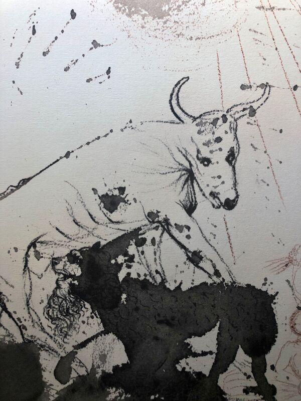 Salvador Dalí, 'The Lion Eating Straw Like The Ox, 'Leo Quasi Bos Comedens Paleas', Biblia Sacra', 1967, Print, Original Lithograph, Inviere Gallery