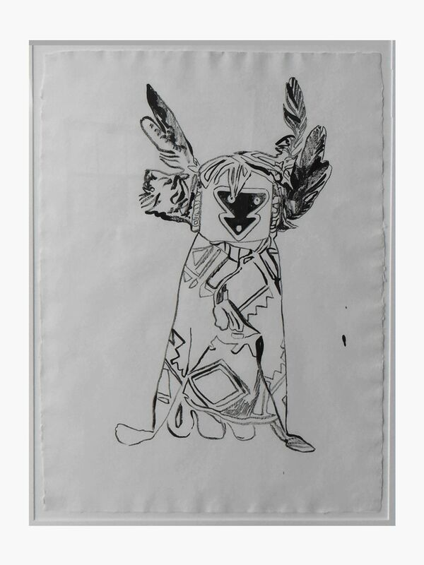 Andy Warhol, 'Kachina Doll', 1986, Drawing, Collage or other Work on Paper, Graphite on paper, Pop International Galleries