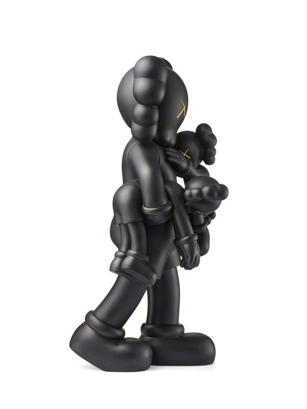 KAWS, 'KAWS Clean Slate Black (KAWS Companion)', 2018, Sculpture, Vinyl paint, Cast Resin, Lot 180