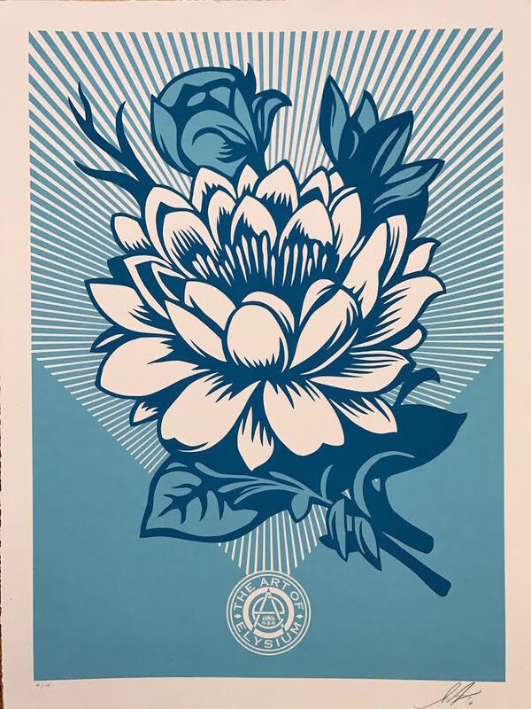 Shepard Fairey, 'Lotus Blossom - Yes', 2017, Print, Screenprint on paper, The Art of ElysiumBenefit Auction