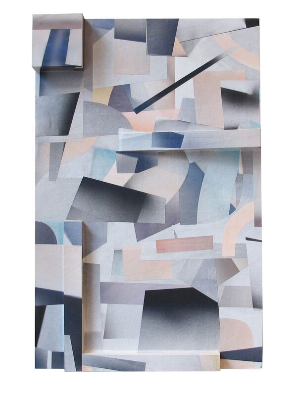 Jesse Moretti, 'Collapse in Parallax 2', 2013, Print, Collaged acrylic print on wood panels, Patrick Parrish Gallery