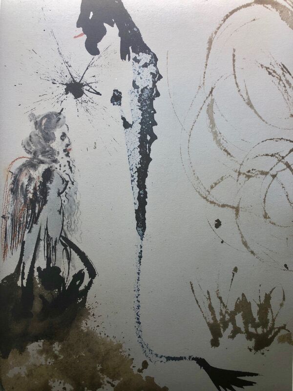 Salvador Dalí, 'An Idol By The Name Of Baal, 'Idolum Nomine Bel', Biblia Sacra', 1967, Print, Original Lithograph, Inviere Gallery