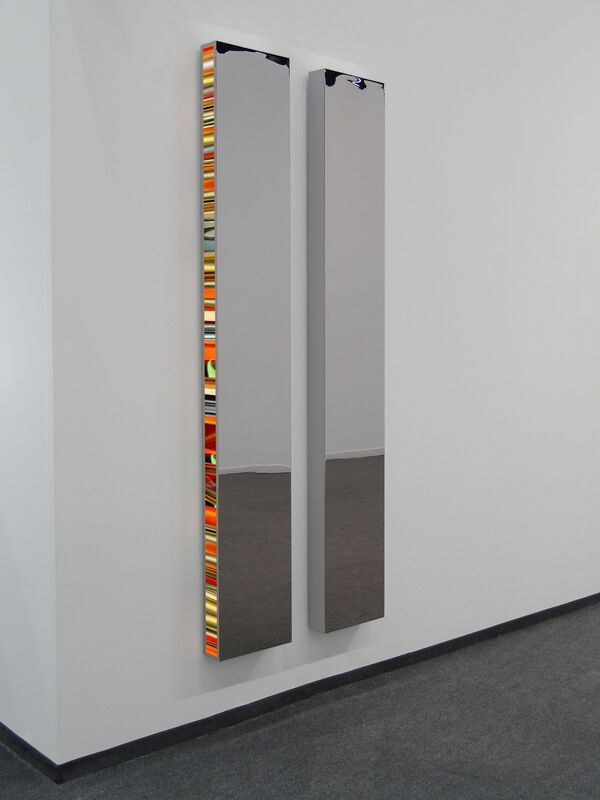 Hans Kotter, 'Twin', 2016, Sculpture, Slide on Plexiglas, stainless steel, color-changing LED lights and remote control, De Buck Gallery