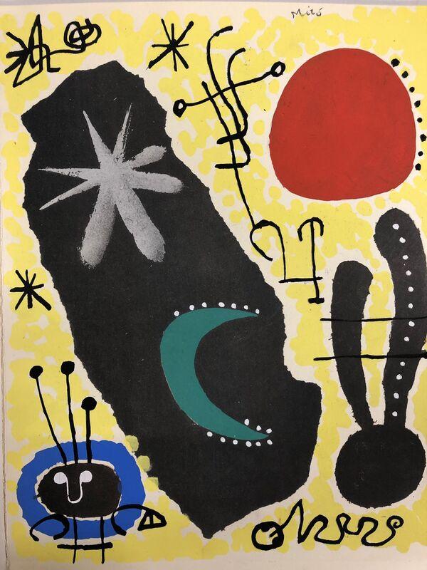 Joan Miró, 'Papier collé', 1956, Print, Stencil on wove paper, Samhart Gallery