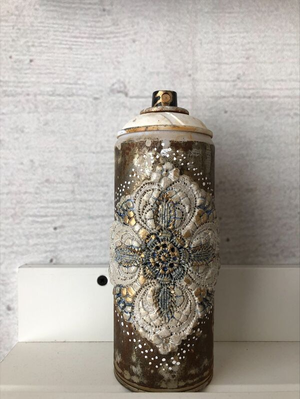 Nespoon, 'No title', 2021, Sculpture, Ceramic on spray can, Artrust