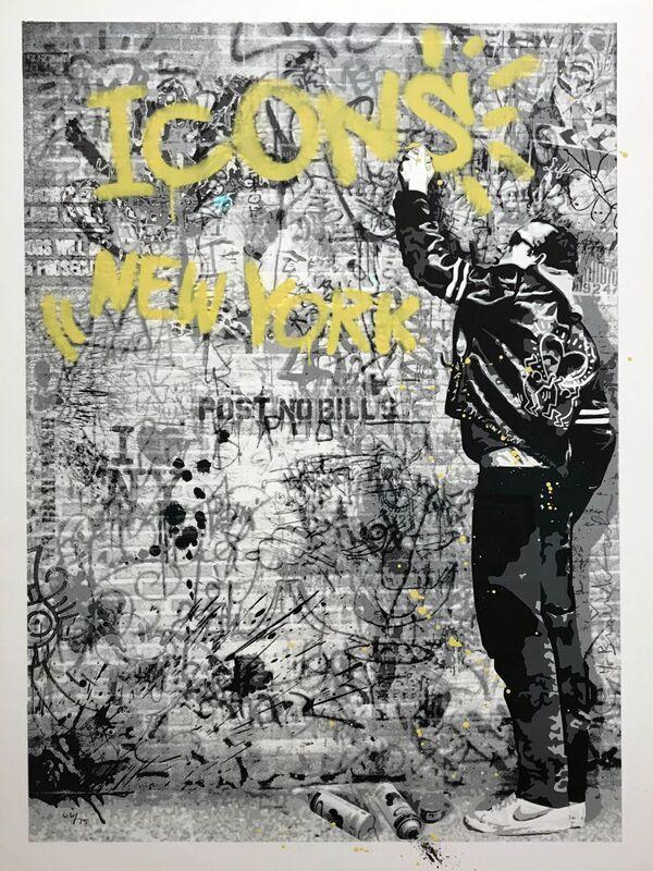 Mr. Brainwash, 'The Wall (Yellow)', 2012, Print, Screenprint and spray paint on archival paper, Taglialatella Galleries