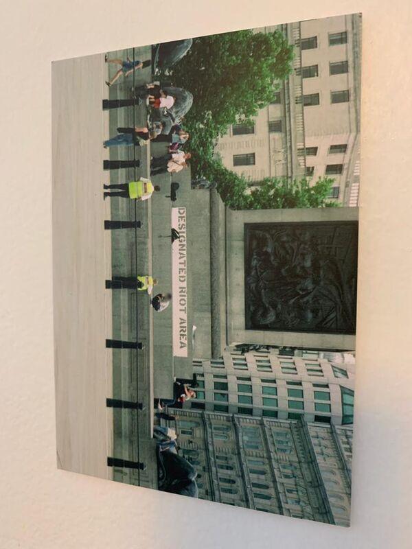 Banksy, 'DESIGNATED RIOT AREA, HS BY STEVE LAZARIDES', 2004, Ephemera or Merchandise, Postcard signed by Steve Lazarides, Arts Limited