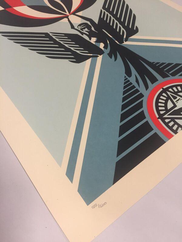 Shepard Fairey, 'Lotus Angel', 2020, Print, Screen print on Cream Speckle Tone paper, Samhart Gallery