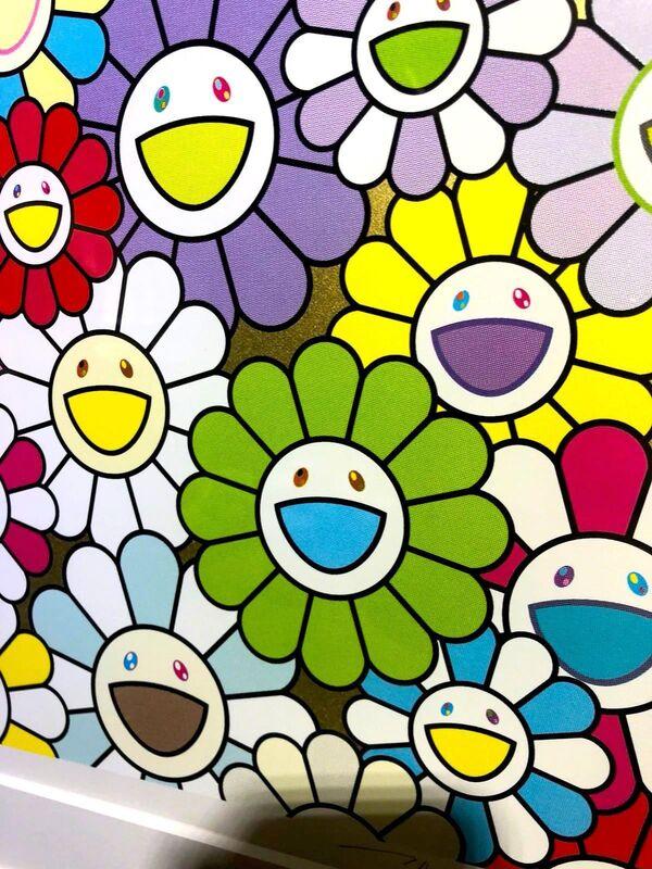 Takashi Murakami, 'A Little Flower Painting : Yellow, White, and Purple Flowers', 2018, Print, Silkscreen, Dope! Gallery