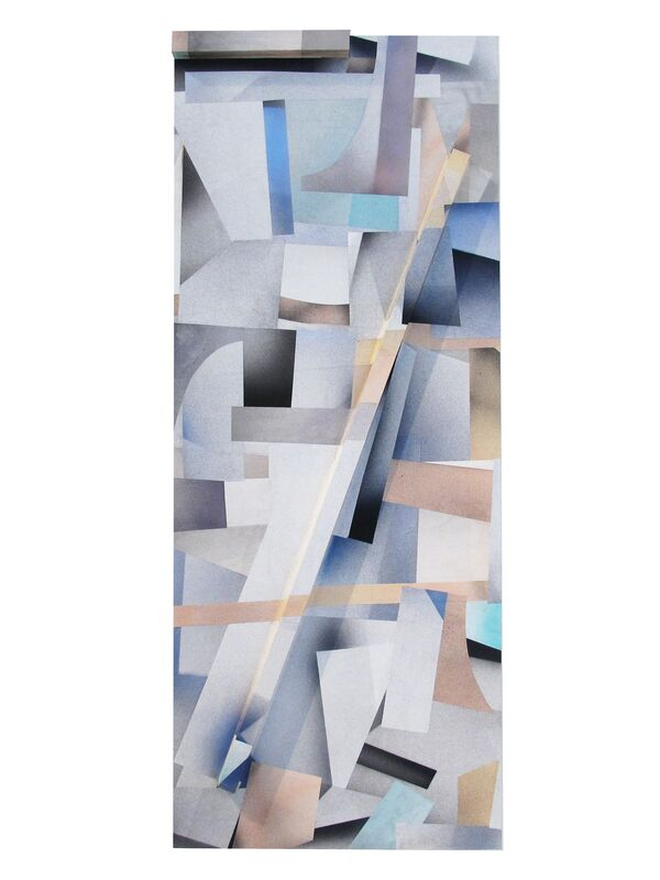 Jesse Moretti, 'Collapse in Parallax 1', 2013, Print, Collaged acrylic print on wood panels, Patrick Parrish Gallery