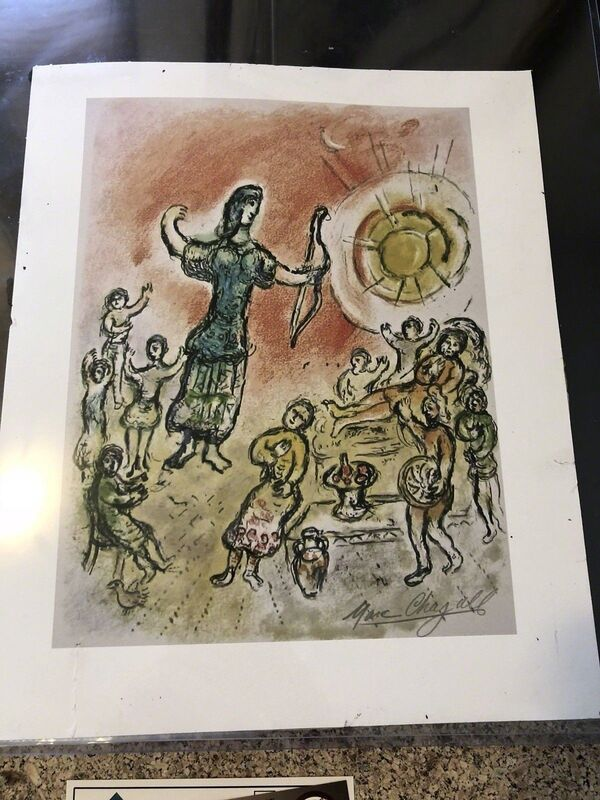 Marc Chagall, 'The Odyssey-Penelope & Ulysses' Bow', 1975, Print, Lithograph, Leviton Fine Art