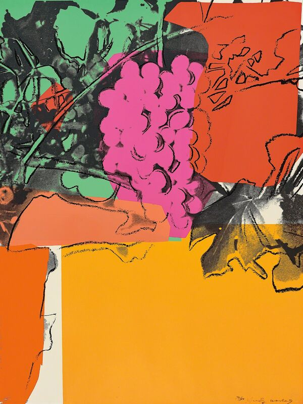Andy Warhol, 'Grapes', 1979, Print, Screenprint in colours, on Strathmore Bristol paper, the full sheet., Phillips