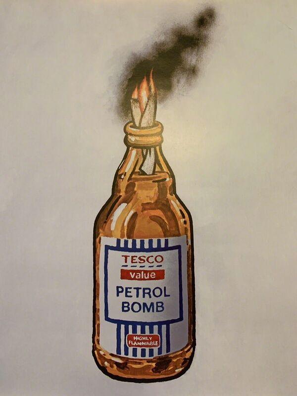 Banksy, 'BANKSY TESCO PETROL BOMB, ORIGINAL LITHOGRAPH 1/2000 LTD EDITION ', 2011, Posters, Satin paper, Arts Limited