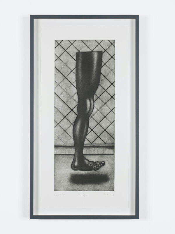 Paul Noble, 'Up, Leg', 2020, Print, Mezzotints with Drypoint on Somerset Satin White 300g, Chisenhale Gallery