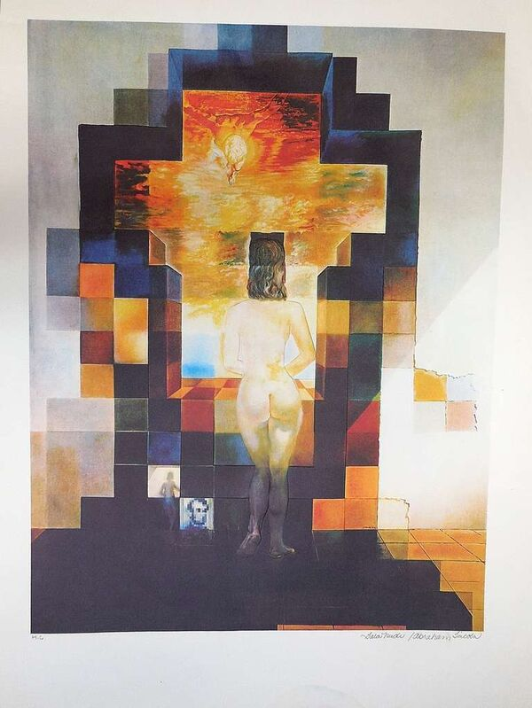 Salvador Dalí, 'Gala Nude / Abraham Lincoln After Salvador Dali embossed lithograph', 1970-1979, Print, Lithograph, Lions Gallery