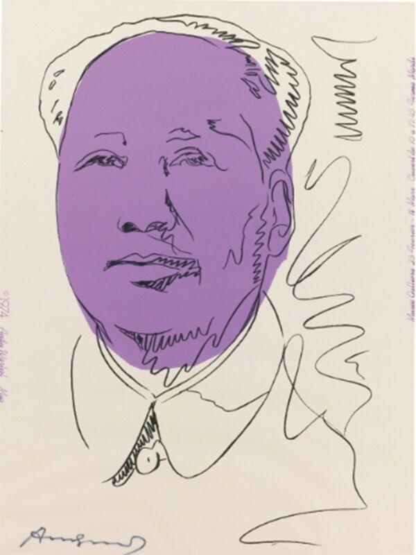 Andy Warhol, 'Mao (FS II.125A)', 1974, Print, Screenprint on Wallpaper, Revolver Gallery