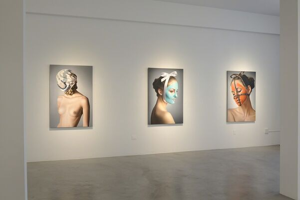 PERSONA paintings by Anna Halldin Maule, installation view